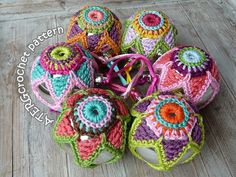 FLOURISH YOUR CHRISTMAS BALLS WITH COLORFUL STAR CROCHET!!! This pattern is a step by step tutorial, in English (US terms) completed with detailed pictures You crochet the Christmas ball star jacket with fingering weight cotton and crochet needle B/2,5mm to fit a Christmas ball (plastic) with a ∅ of 2.4inch / 6cm. I love to crochet with the wide range of colors from Catania Schachenmayr. Crochet level: for all crochet lovers who are acquainted with the basics of crochet. For y...
