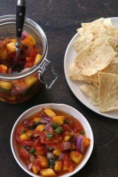 Grilled Mango Salsa