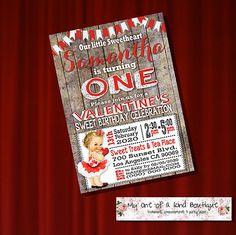 Birthday invitation valentine invite valentines by myooakboutique