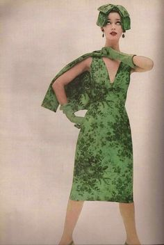 Nancy Berg for Chesterfield, photographed by Erwin Blumenfeld, 1956.