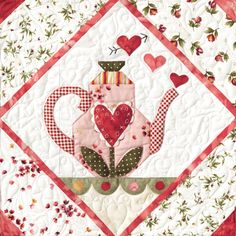 Sweetheart Tea Quilt Block