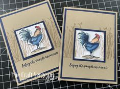 58 Ideas Birthday Background Stampin Up For 2019 Home To Roost, Stamping Up Cards, Male Cards Stampin Up, Birthday Background, Bird Cards, Animal Cards, Masculine Cards, Greeting Cards Handmade, Scrapbook Cards