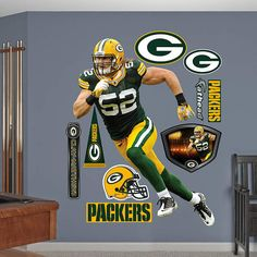 Fathead Green Bay Packers Clay Matthews No 52   Wall Sticker Outlet Part 77