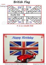 British flag irisfolding-tekniikalla