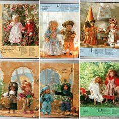 Какими были журналы в прошлом веке / Выкройки одежды для кукол-детей, мастер классы / Бэйбики. Куклы фото. Одежда для кукол