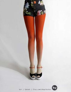 DIY Ombre Tights - The Brit & Co Blog shows you how to make faded tights