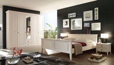 Schlafzimmer Massivholz Kiefer massiv weiß Landhausstil Bolzano1