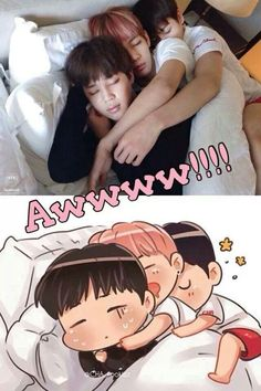 TAEKOOK + Jimin ~ hehe had to share, too cute!
