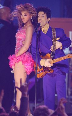 Prince's Most Badass Moments That Made Us Love Him: by SEIJA RANKIN Thu, Apr 21, 2016 5:55 PM - Beyonce, Prince