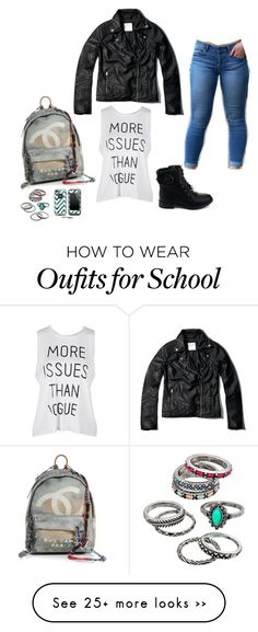"""Back To School"" by savanah-mariee on Polyvore featuring мода, Abercrombie & Fitch, Articles of Society, Chanel, Mudd и LifeProof"