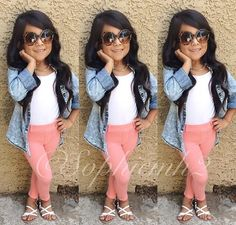 Cute outfit my princess would love to have those glasses!