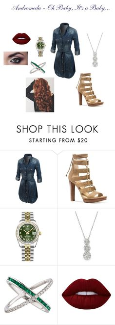 """""""Andromeda - Oh Baby, It's a Baby..."""" by torib795 ❤ liked on Polyvore featuring LE3NO, Michael Kors, Rolex, Bloomingdale's, Nigaam and Lime Crime"""