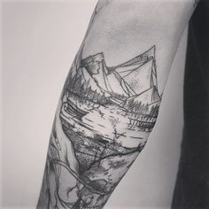 This elaborate landscape. | 26 Stunning Tattoos For Nature Lovers
