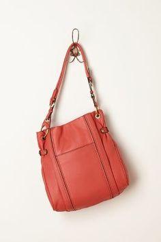 Topstitched Shoulder Bag