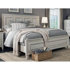 Get inspired by Farmhouse Bedroom Design photo by Wayfair. Wayfair lets you find the designer products in the photo and get ideas from thousands of other Farmhouse Bedroom Design photos. Home Decor Bedroom, Modern Bedroom, Contemporary Bedroom, White Rustic Bedroom, White Bedroom Set, King Size Bedroom Sets, Cozy Bedroom, King Size Bedding, Master Bedroom Furniture Ideas