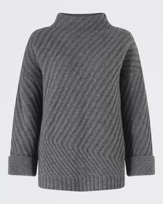 Diagonal Rib Sweater