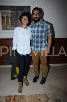 Aamir and wife Kiran make for a lovely pair at an event in the city