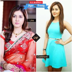 """#Style vs #Trendy Bubbly & Charming Beauty #RashiKhanna in Beautiful Saree & in Trendy #Western wear.  Which Outfit suits her & looks cool? Present your interest in """"Like"""" for Saree or """"Comment"""" for Dress….  (Image copyrights belong to their respective owners)"""