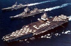 images of USS Enterprise (CVN65) maiden voyage 1961 | uss enterprise cvan 65 uss long beach cgn 9 uss bainbridge dlgn 25 ...