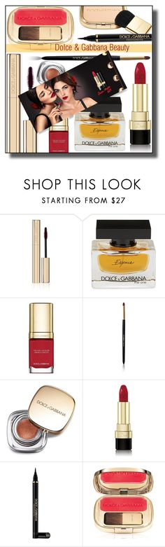 """""""Dolce & Gabbana Matte Lipstick"""" by nusongbird ❤ liked on Polyvore featuring beauty and Dolce&Gabbana"""