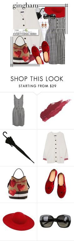 """I would like to have everything here!"" by no-where-girl ❤ liked on Polyvore featuring Lily Lolo, Burberry, Charlotte Olympia, Ilariusss, Bottega Veneta, WithChic and gingham"