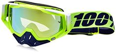 100% Unisex-Adult Tanaka Racecraft MX Motocross Goggles With Clear Lens (Blue/Green,One Size Fits Most) Review