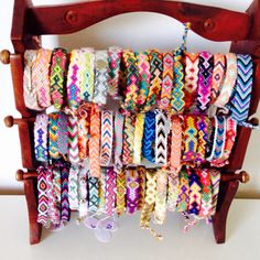 Another easy way to accessorize is to stack some cuff bracelets or use them separately for a simple, carefree look. Bracelet Fil, Bracelet Crafts, Bracelet Making, Summer Bracelets, Cute Bracelets, Ankle Bracelets, Thread Bracelets, Embroidery Bracelets, Beaded Bracelets