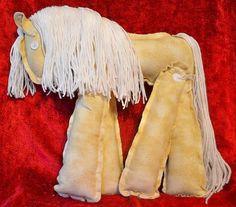 Plush Pony PalaminoToy by ApronFreeCooking on Etsy, $25.00    https://www.etsy.com/listing/117948924/plush-pony-palaminotoy