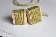 Yarn Block Stamps. We love making our own stamps!  (from original source)
