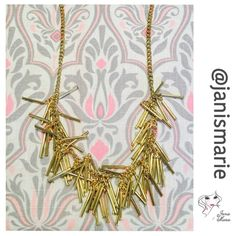 t+j designs gold metal fringe necklace • Amazing statement necklace • Perfect for those who love the daring look • Wear with any outfit and make a statement • Lobster Claw Clasp Closure with extender • Boutique Purchase • New With Tags • Five Star Rating • Ships Next Business Day Excluding Weekends & Holiday • Additional Photos or Measurements Available on Request • Thank You For Shopping My Closet  • Photo Courtesy t+j designs T&J Designs Jewelry Necklaces