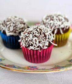 Mini Chocolate Coconut Cupcakes