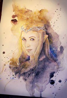 aneveninginlothlorien: Lady of Light by Kinko-White