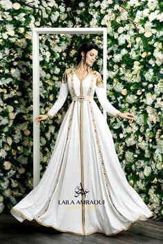 Laila Amraouicaftan laila Arabic Wedding Dresses, Arabic Dress, Wedding Dresses For Girls, Morrocan Dress, Moroccan Caftan, Morrocan Wedding Dress, Caftan Dress, Hijab Dress, Abaya Fashion