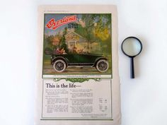 Antique Magazine Paper Ephemera 1917 Willys by RecycledWares, $8.00