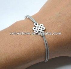 Pulserainfinito, gris de cable de pulsera de plata con un sin fin de nudo encanto, pulsera de yoga, tibetano chino nudo celta, brazalete budista-Brazaletes y Pulseras-Identificación del producto:923514695-spanish.alibaba.com
