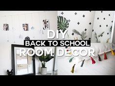 DIY Back to School Room Decor & Organization - Minimal & Affordable! - YouTube