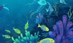 Art work for personal children book project. Art work for personal children book project. Sea Drawing, Cute Small Animals, Sea Life Art, Environment Concept Art, Children's Book Illustration, Book Illustrations, Book Projects, Collages, Art Drawings