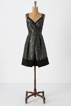 ooh! This is a perfect New Year's dress in fact it's called New Years Tweed Dress - Anthropologie - $268