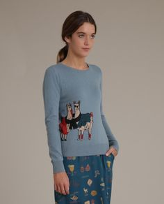 Nice Things Clothing Llamas Jumper #jumper #autumn #fashion