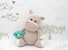 Pretty Photo of Crochet Hippo Pattern Crochet Hippo Pattern Amigurumi Pattern The Hippopotamus Melman And His Friend Pi Crochet Hippo, Crochet Diy, Love Crochet, Crochet Animals, Crochet Crafts, Crochet Projects, Crochet Ideas, Crochet Animal Patterns, Stuffed Animal Patterns