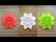 Very beautiful Paper FLOWER Origami Craft Decoration Tutorial DIY How to make a beautiful paper flower? We need 8 sheets of paper format). I use 21 х 7 cm х This origami is amazing decoration . Origami Tutorial, Gato Origami, Design Origami, Instruções Origami, Origami Modular, Origami Paper Folding, Tutorial Diy, Money Origami, Origami Fish