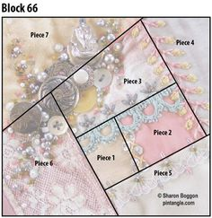 pattern for Crazy quilt block