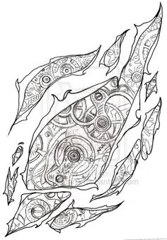 Steampunk Ripped Flesh Tattoo by Metacharis