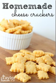 Homemade Cheese Crackers I've made something similar before, but these don't have the cayenne pepper