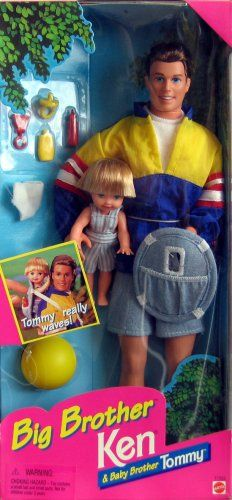 Big Brother Ken & Baby Brother Tommy  The first Ken doll we got that had real hair!