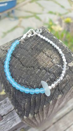 Check out this item in my Etsy shop https://www.etsy.com/listing/399876383/beaded-genuine-seaglass-bracelet