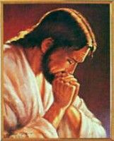 Jesus at Prayer by Parisi. Another of my favs. Simple yet powerful message.. Jesus praying for us!