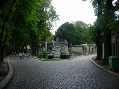 Pere Lachaise Cemetery in Paris - France