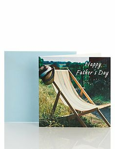 Photographic Deck Chair Father's Day Card