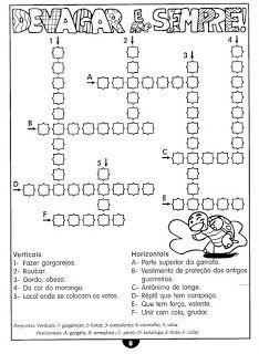 100 Atividades com palavras cruzadas e caça palavras! Atividades educativas com passatempos para crianças - ESPAÇO EDUCAR